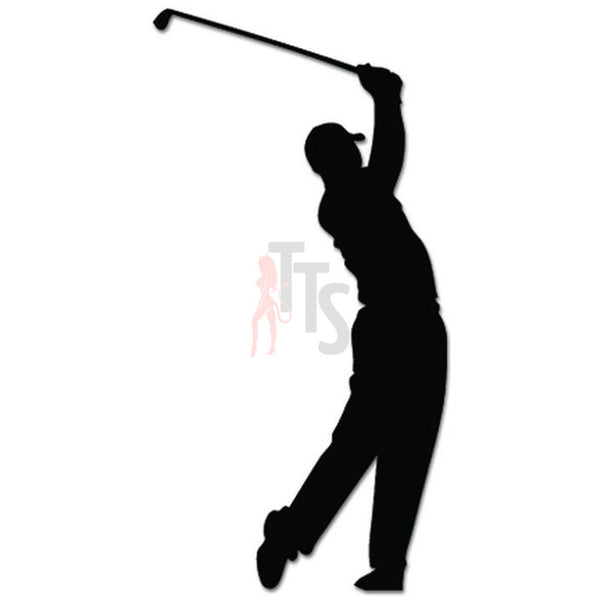 Golf Golfer Golfing Decal Sticker Style 3
