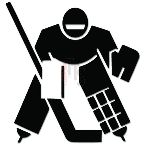 Ice Hockey Goalie Player Decal Sticker Style 3