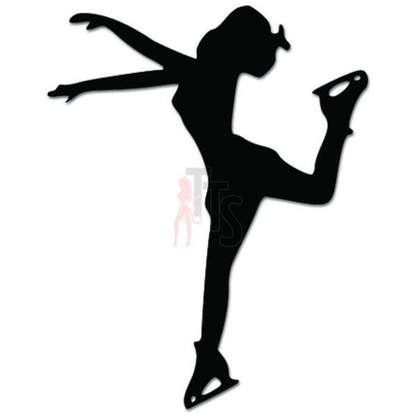 Ice Skater Skating Decal Sticker Style 2