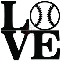 Love Baseball Sports Decal Sticker