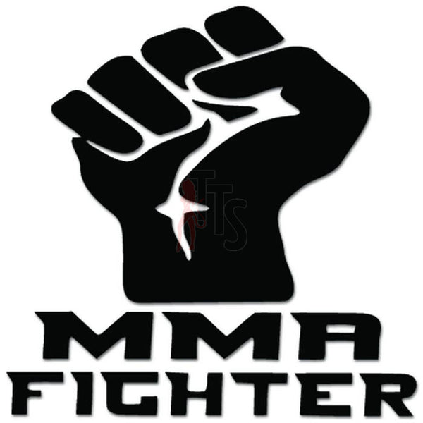 MMA Fighter Hand Fist Punch Decal Sticker
