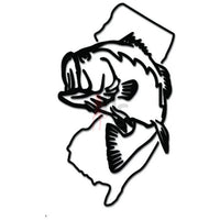 New Jersey State Largemouth Bass Fishing Decal Sticker