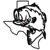 Texas State Largemouth Bass Fishing Decal Sticker
