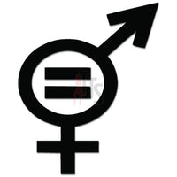 Gender Equality Sex Symbols Decal Sticker