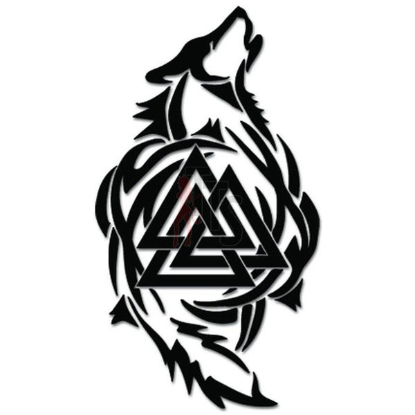 Valknut Wolf Norse Vikings Odin Thor Decal Sticker