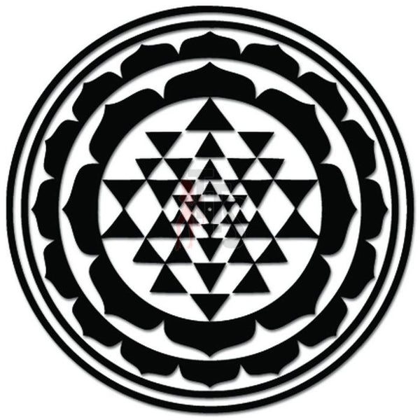Sri Yantra Chakra Meditation Decal Sticker