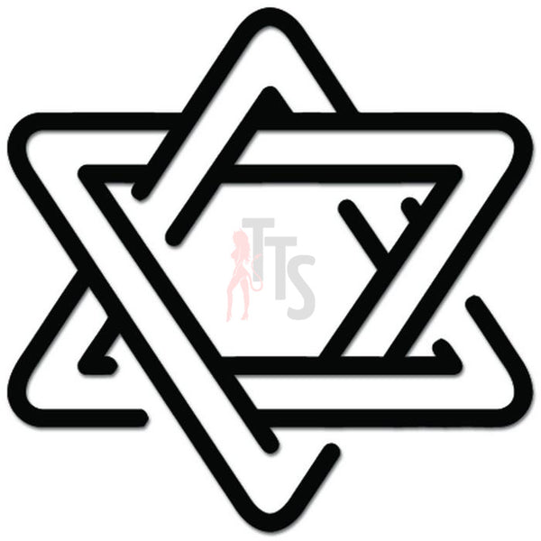 Star of David Jewish Judaism Decal Sticker