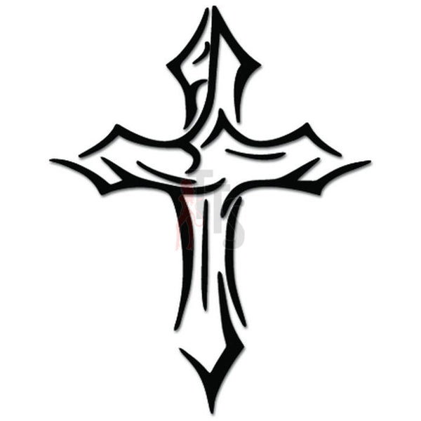 Tribasl Holy Cross Christians Decal Sticker
