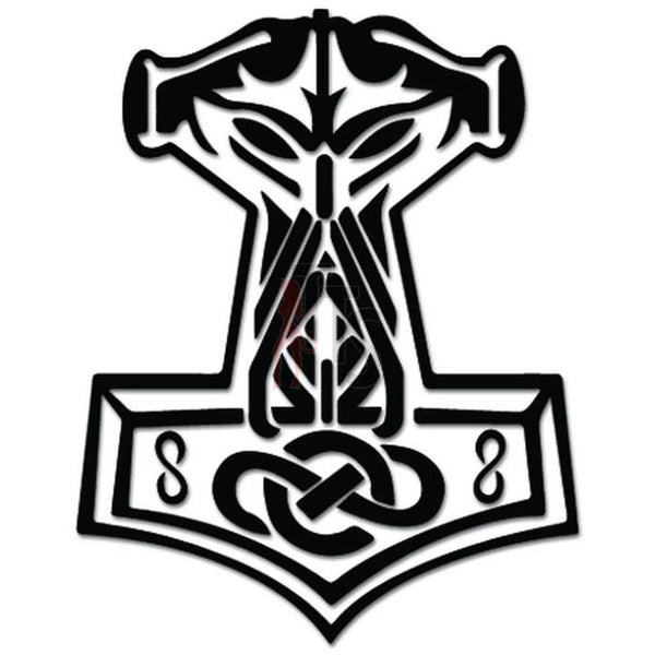 In Ordin We Trust Thor Vikings Hammer Norse Decal Sticker