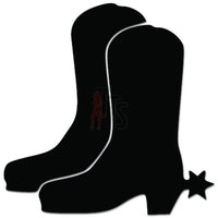 Cowboy Boots Decal Sticker