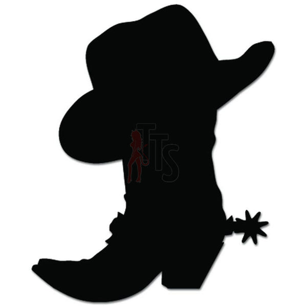 Cowboy Boot Hat Decal Sticker