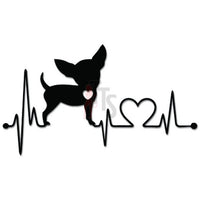 Chihuahua Dog Love Lifeline EKG Heartbeat Decal Sticker
