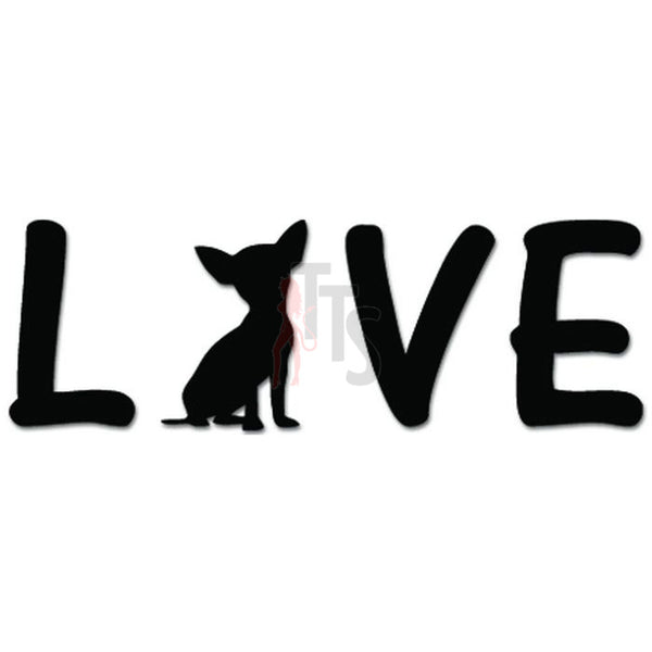 Love Chihuahua Dog Pet Heart Decal Sticker Style 5