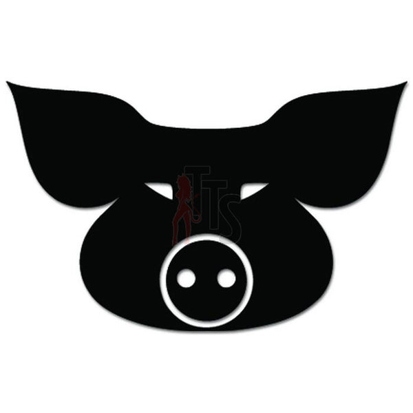 Hog Pig Head Farm Decal Sticker