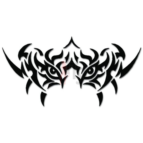 Tribal Tiger Face Eyes Tattoo Decal Sticker