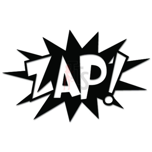 Zap Exclamation Superhero Fight Decal Sticker