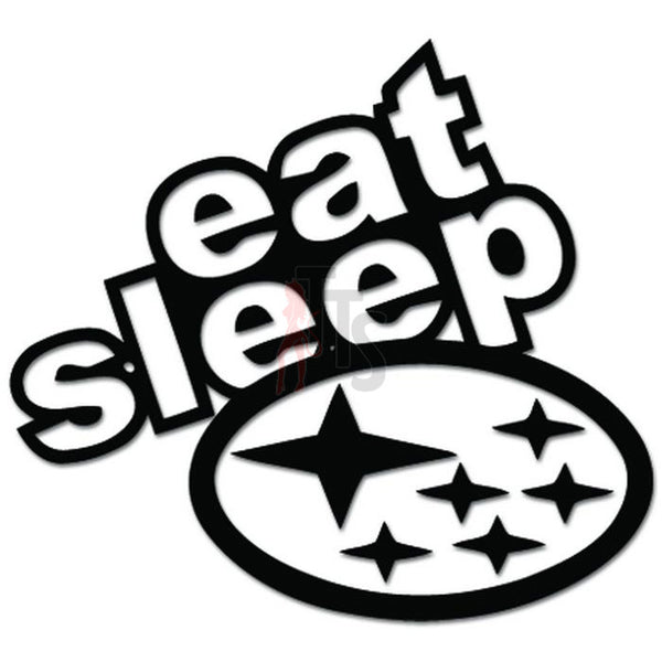 Eat Sleep Rally Car Euro Decal Sticker