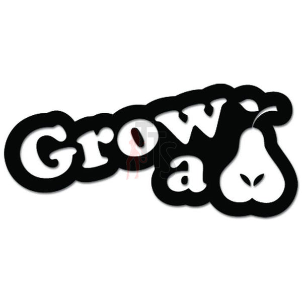 Grow A Pear Funny Decal Sticker Style 1