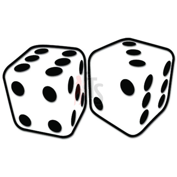 Dice Cubes Gaming Casino Decal Sticker