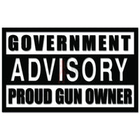 Advisory Proud Gun Owner Rifle Decal Sticker