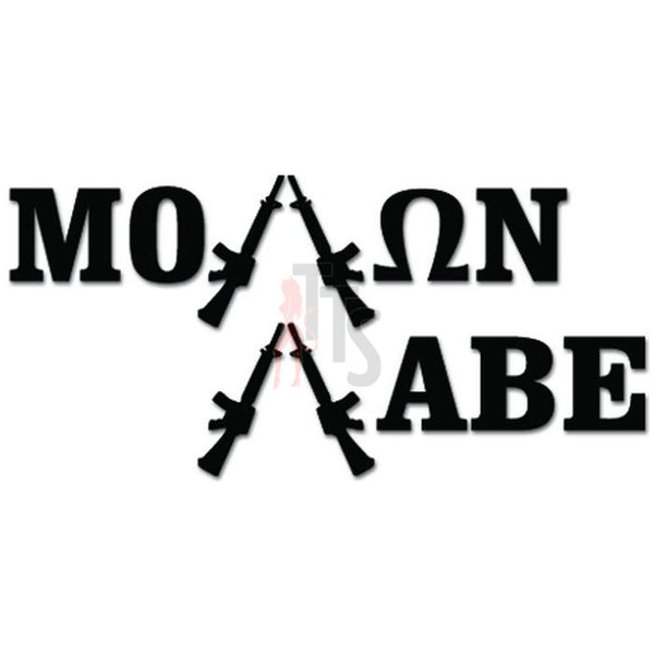 Molon Labe Assault Rifle Gun Decal Sticker