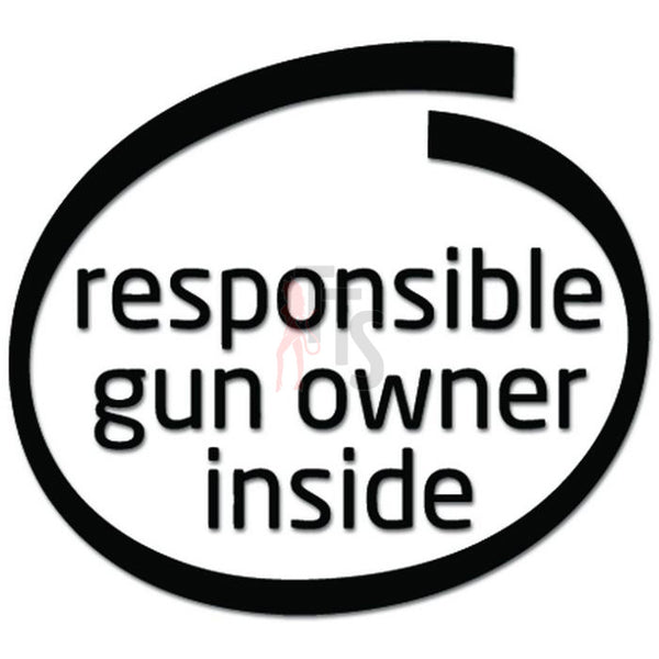 Responsible Gun Owner Inside Decal Sticker