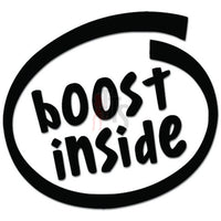 Boost Inside NOS Turbo JDM Japanese Decal Sticker