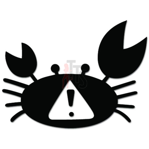 Caution Crab Crossing JDM Japanese Decal Sticker