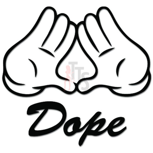 Dope Hands JDM Japanese Decal Sticker