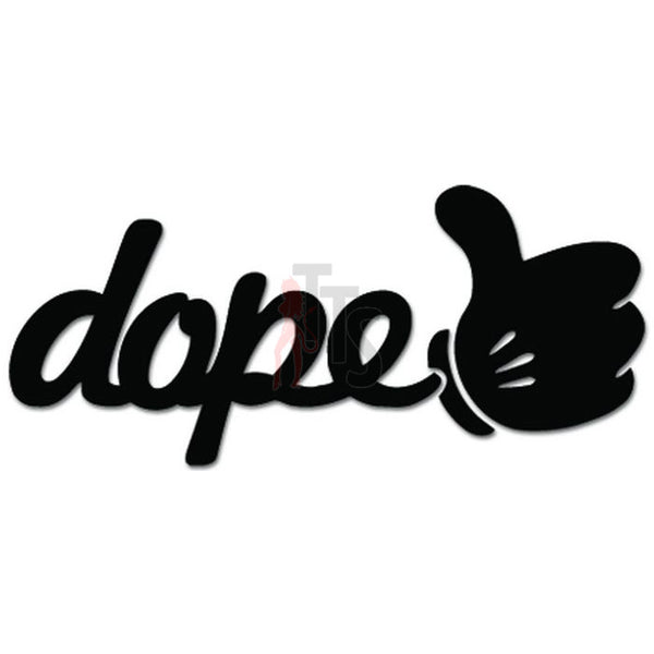Dope Hand Thumb Up JDM Japanese Decal Sticker