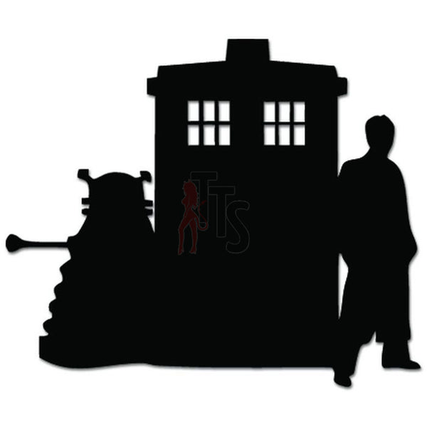 Tardis Dr. Who Dalex Time Machine Decal Sticker