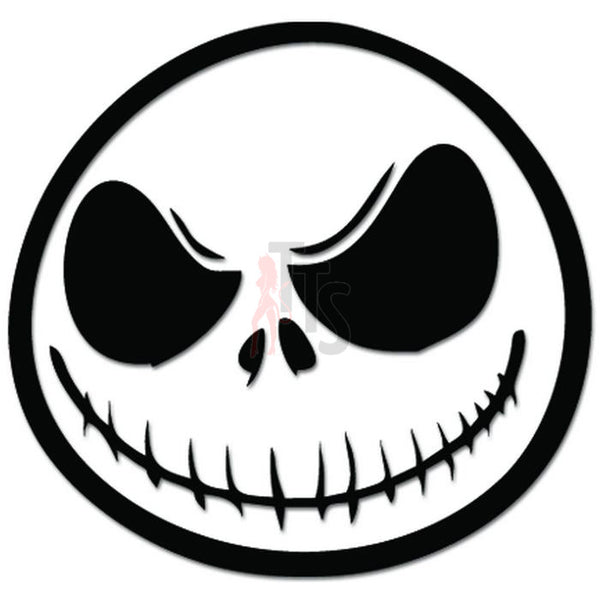 Nightmare Before Christmas Jack Face Decal Sticker