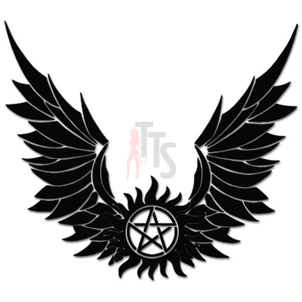 Supernatural Anti Possession Angel Wings Decal Sticker