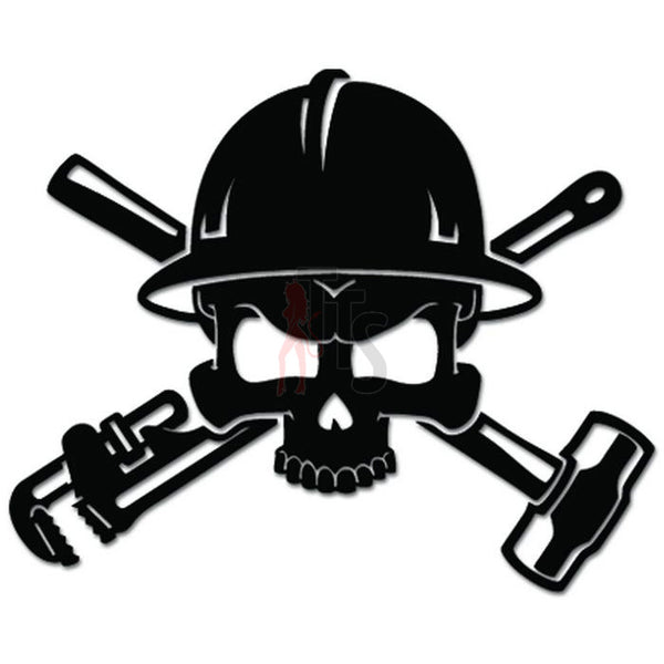 Oilfield Roughneck Death Skull Tools Decal Sticker