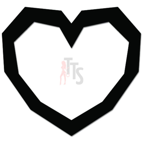 Heart Container Love Decal Sticker