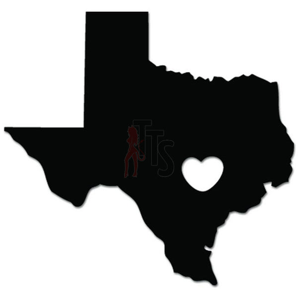 Love Texas Where The Heart Is Decal Sticker