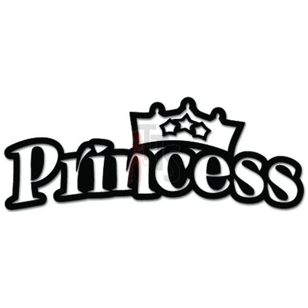 Princess Crown JDM Japanese Decal Sticker