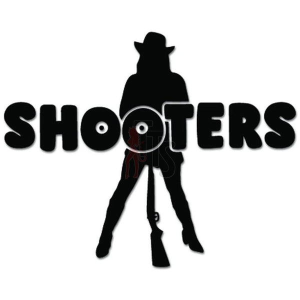 Shooters Girl Cowgirl Rifle Gun Decal Sticker