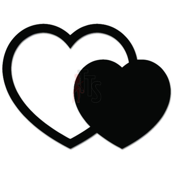 Two Beating Hearts Decal Sticker