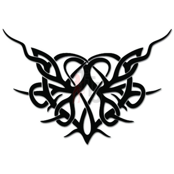 Tribal Heart Love Vine Decal Sticker
