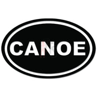 Canoe Oval Boat Boating Decal Sticker