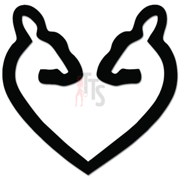 Doe and Doe Love Deer Lesbian LGBT Decal Sticker