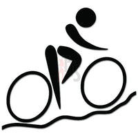 Bicycling Cycling Bicycle Bike Decal Sticker