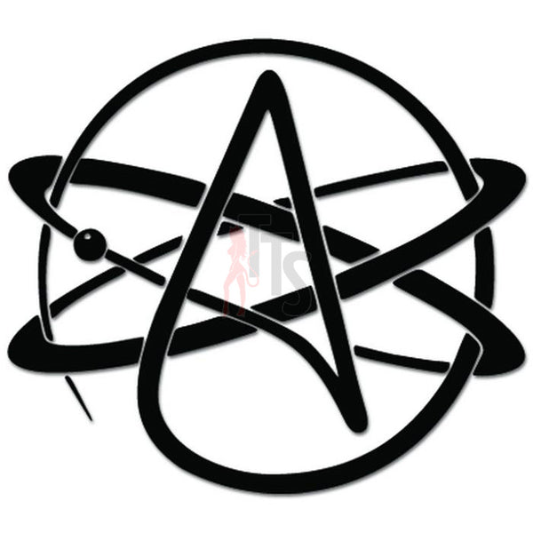 Atheist Atheism Symbol Atom Orbit Decal Sticker