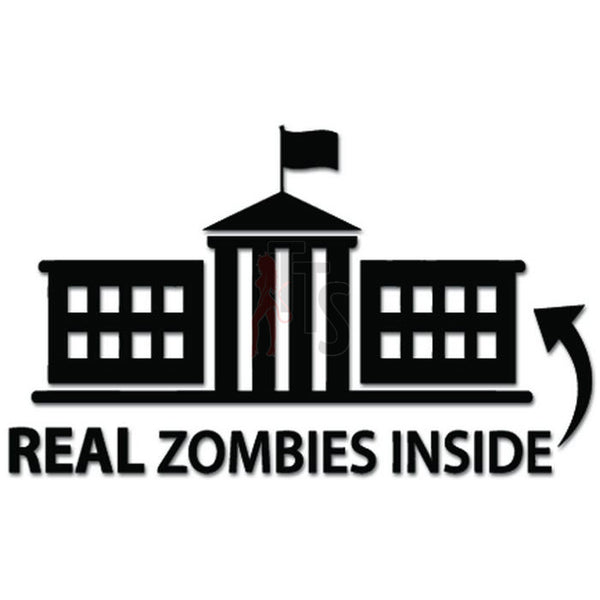 Real Zombies Inside Decal Sticker