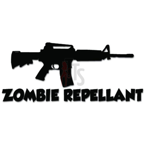 Zombie Repellant AR-15 Assault Rifle Gun Decal Sticker