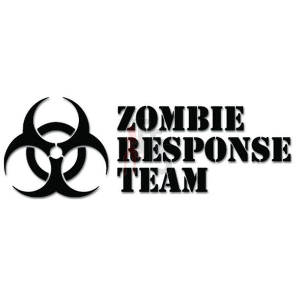 Zombie Response Team Biohazard Decal Sticker