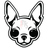 Beady Large Eyes Chihuahua Dog Head Pet Decal Sticker