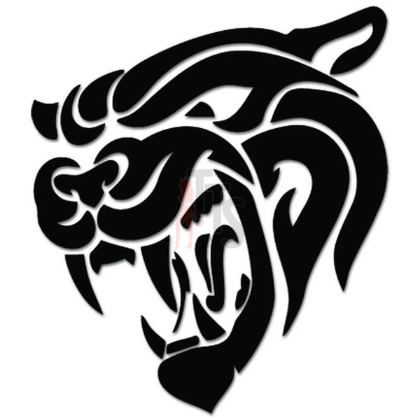 Tribal Cougar Cat Decal Sticker