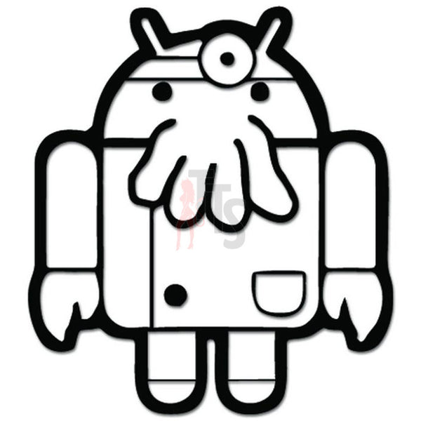 Android Zoidberg Crossover Parody Decal Sticker